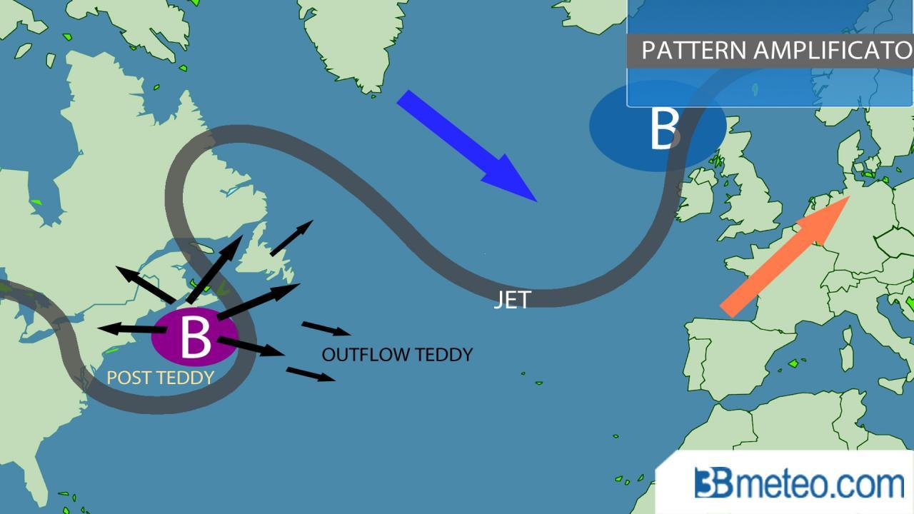 Teddy aiuterà ad amplificare il pattern in Atlantico