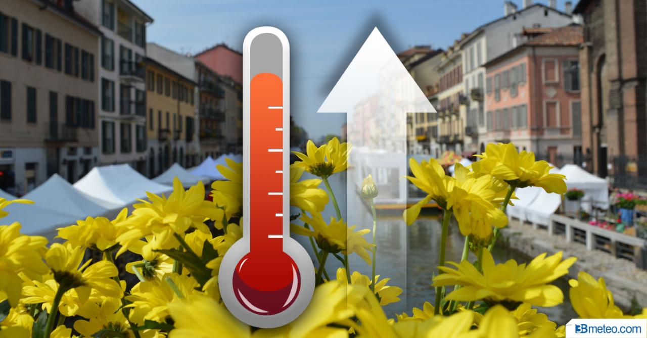Temperature in aumento nel weekend