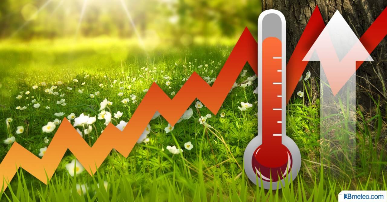 Temperature in aumento su valori primaverili nei prossimi giorni