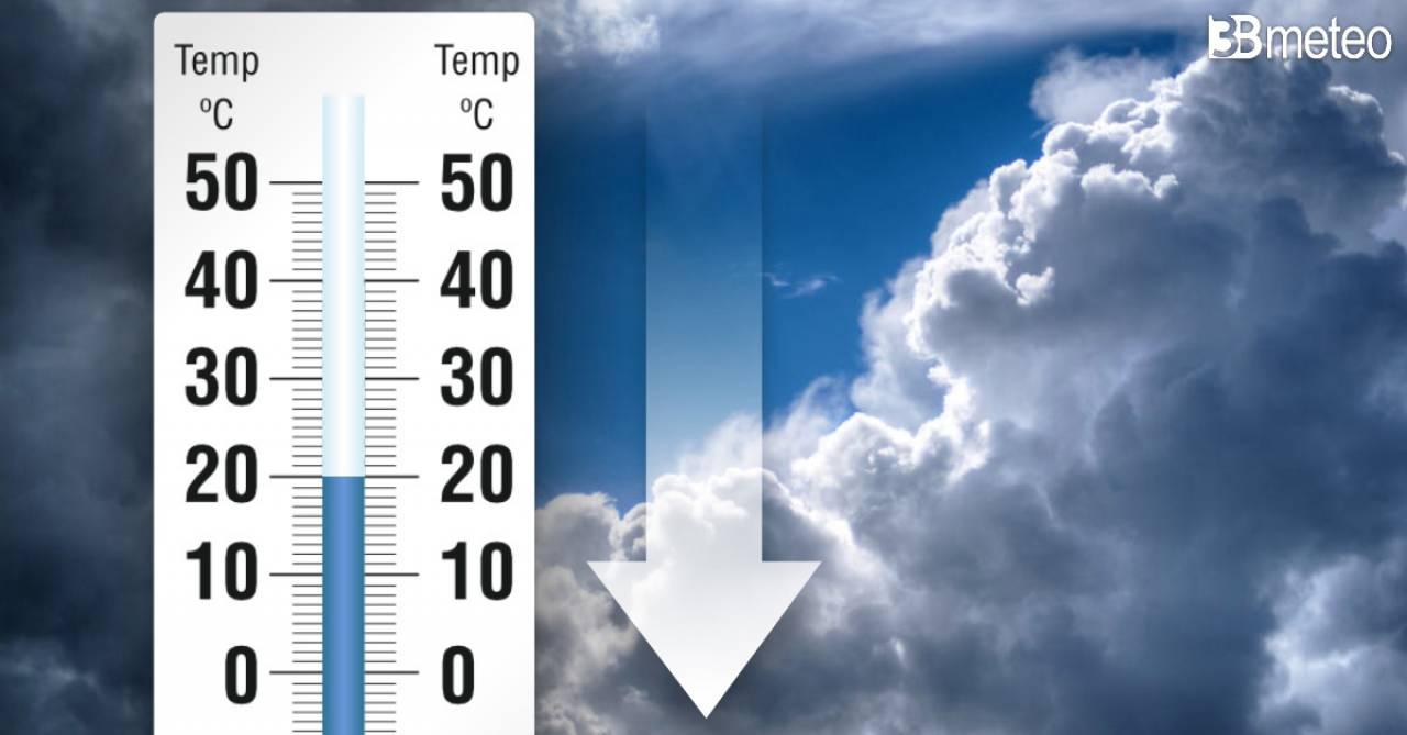 Temperature in calo, anche sotto media nei prossimi giorni