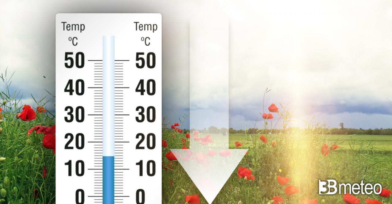 Temperature in calo in settimana