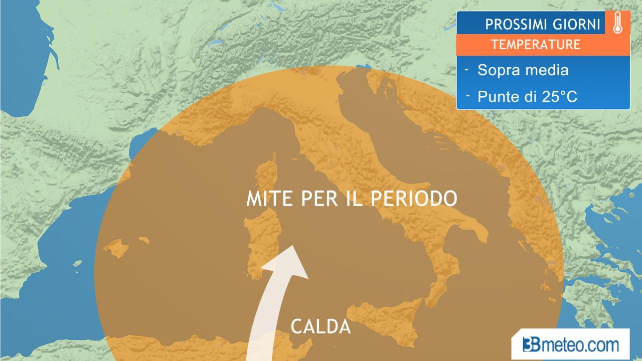 Meteo italia clima molto mite temperature da maggio nei prossimi giorni 3b meteo - Meteo bagno di romagna 15 giorni ...