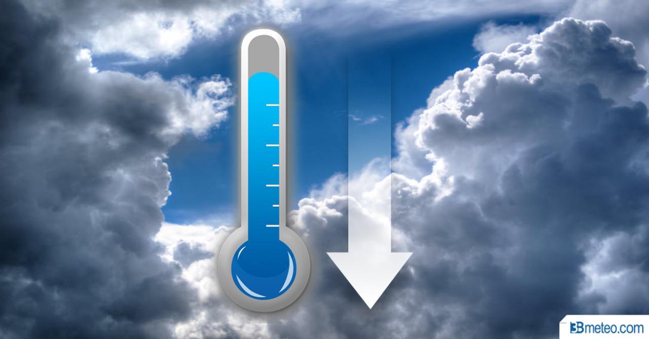 Temperature in netto calo a iniziare dal Nord
