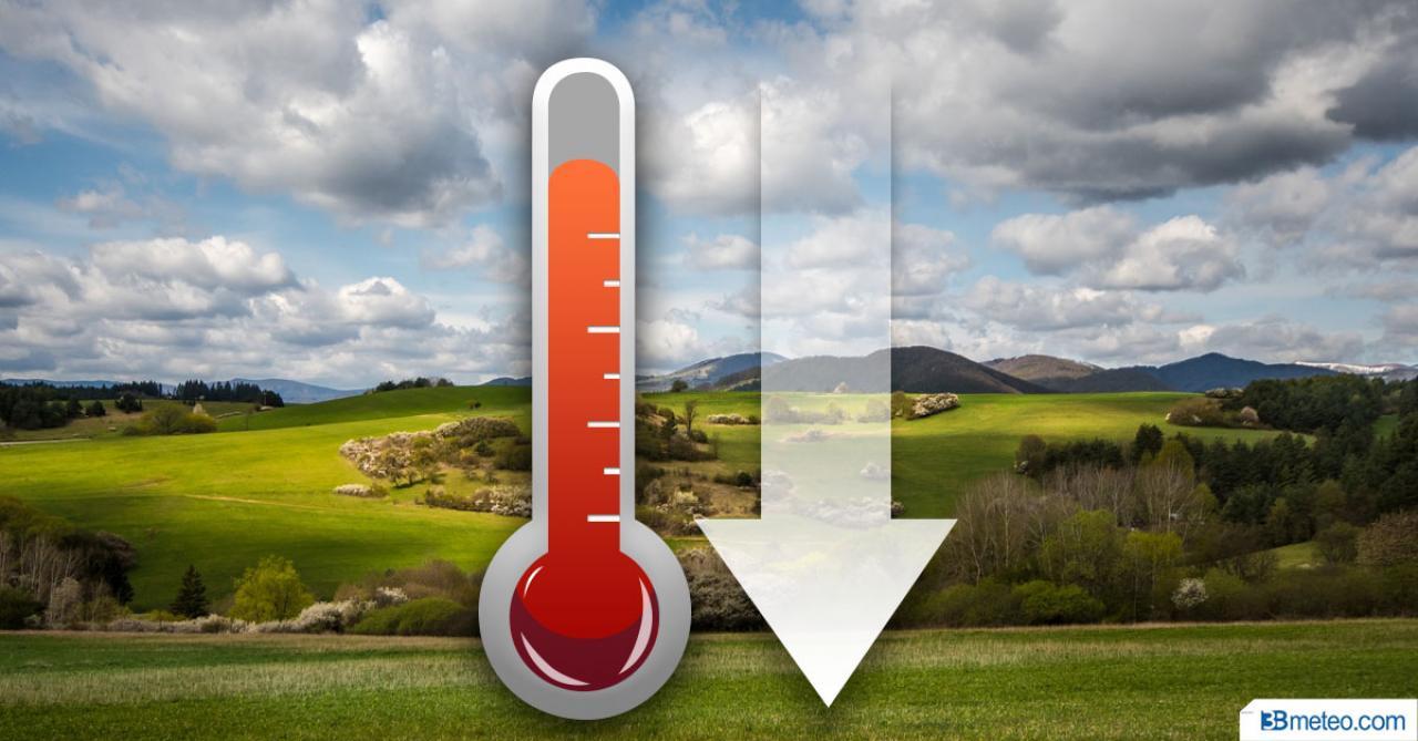 Temperature in netto calo in settimana