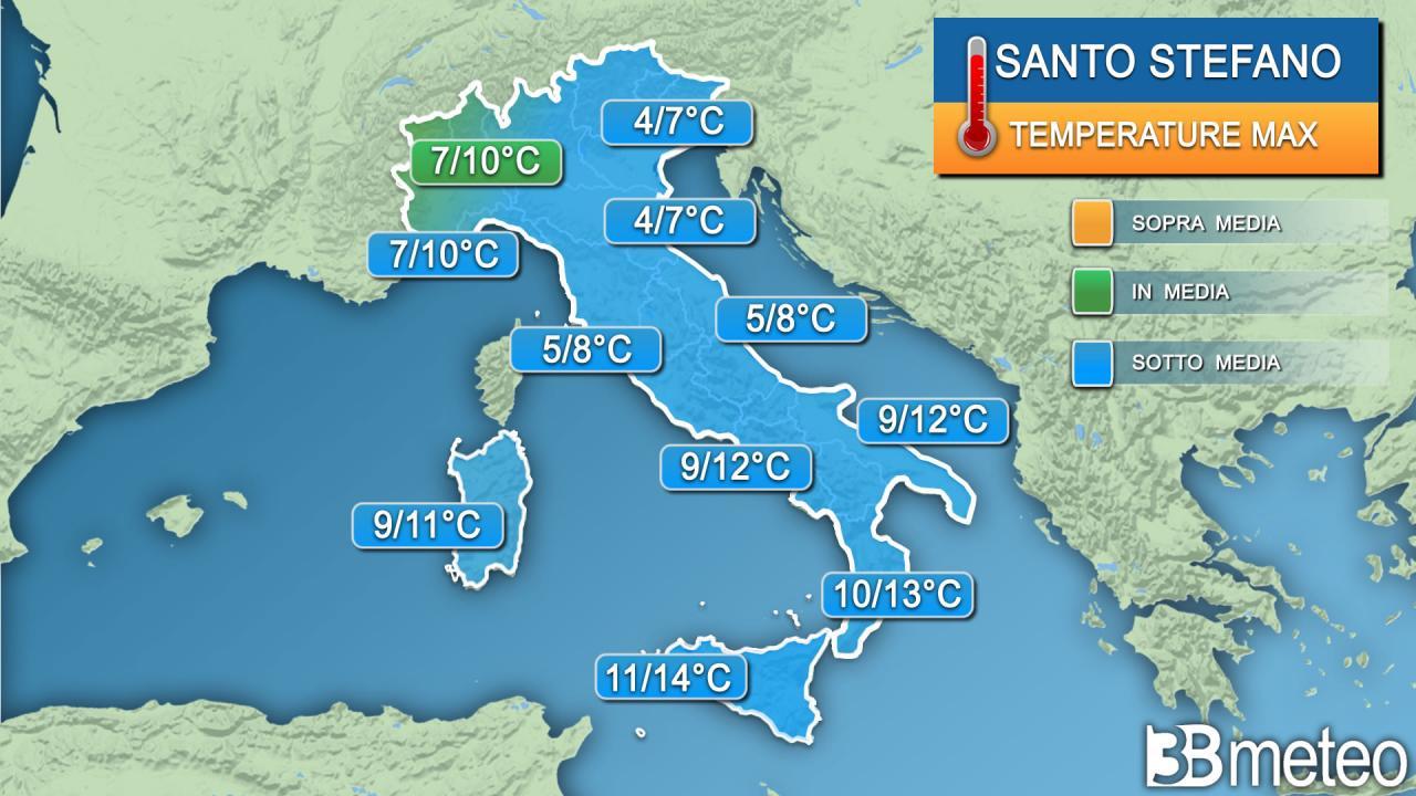Temperature massime Santo Stefano