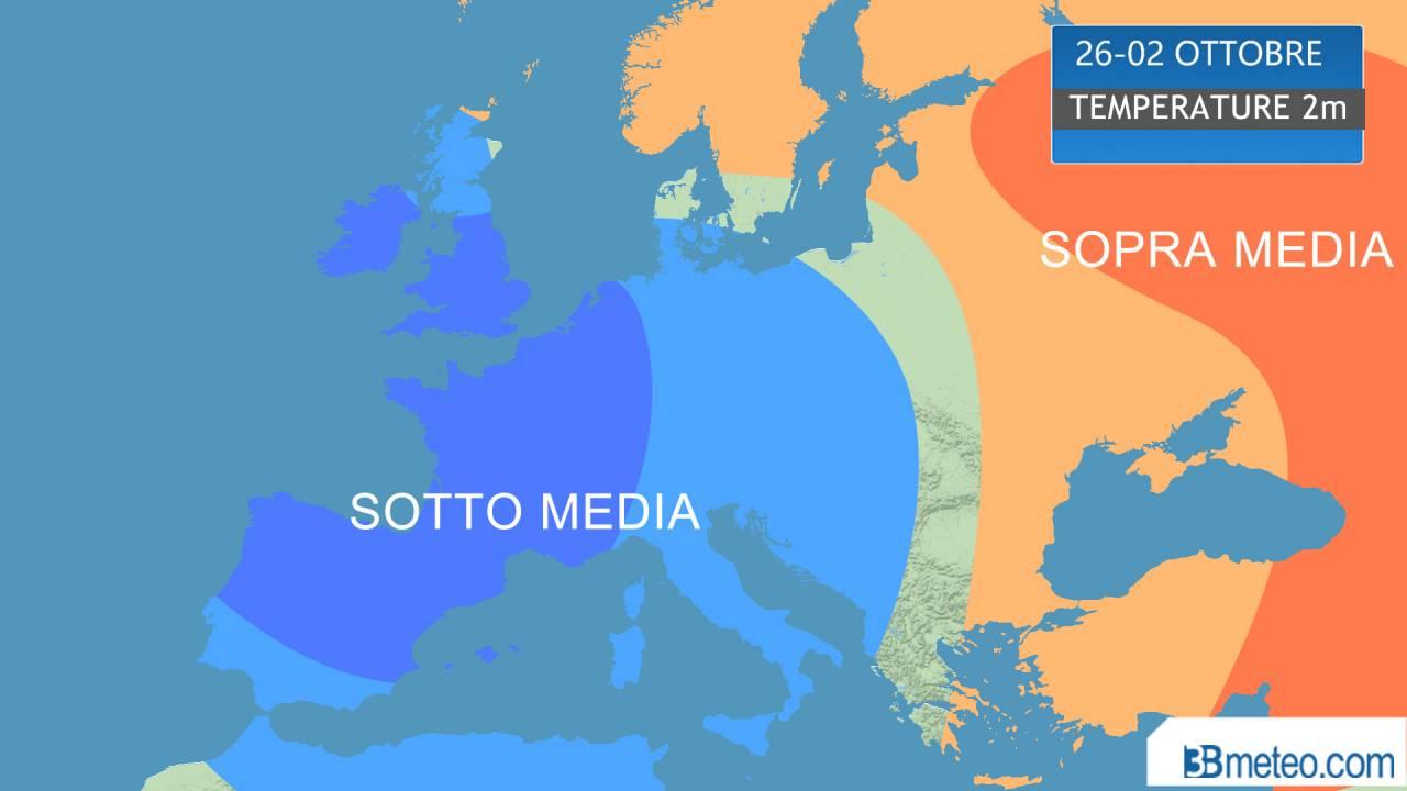 temperature sotto media per mezza Europa