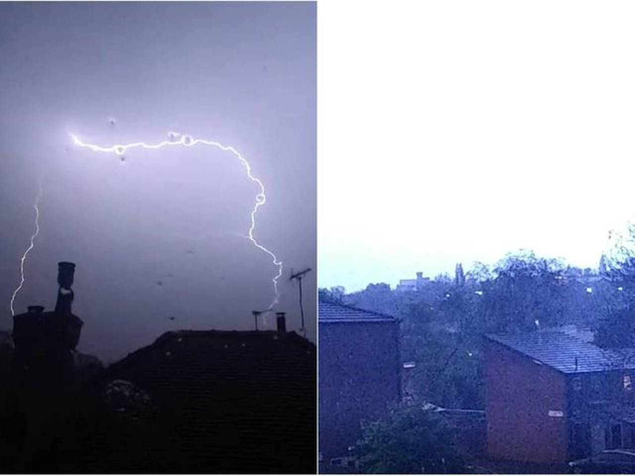 Tempesta di fulmini illumina la notte a Leeds (Fonte: yorkshireeveningpost)