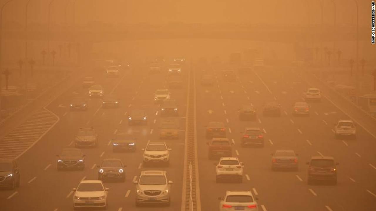 Tempesta di sabbia a Pechino