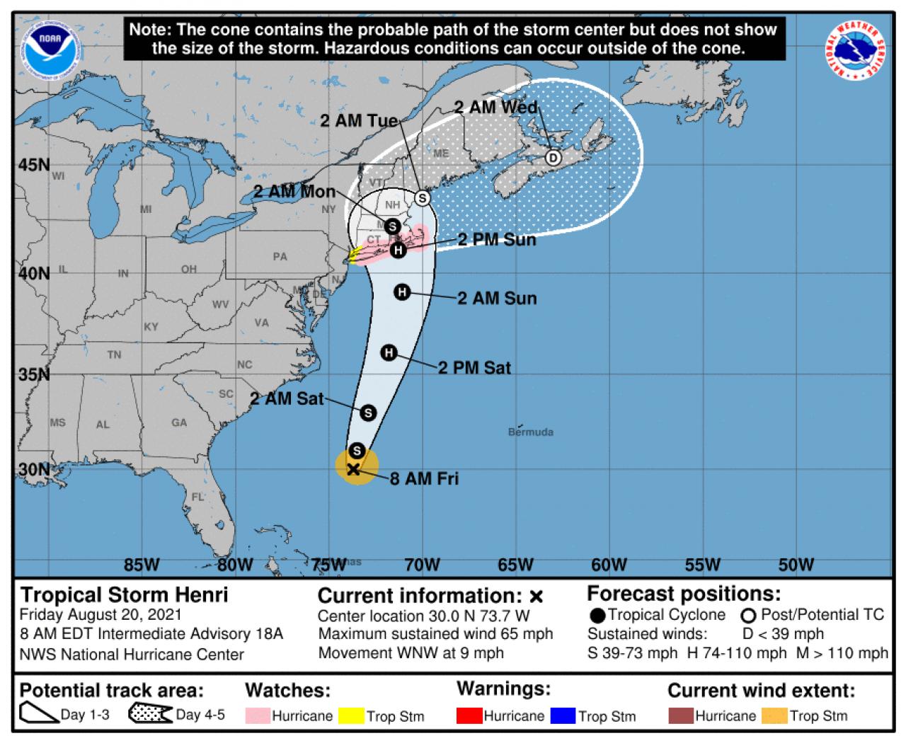 Tempesta Henri, presto uragano