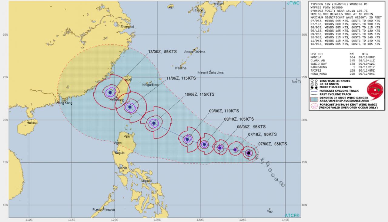 Tempesta Tropicale Chanthu