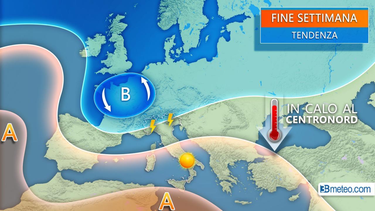 Meteo Italia, temporali anche forti nel weekend e temperature in diminuzione. Ecco i dettagli