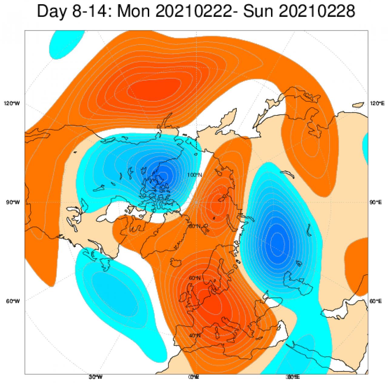 Tendenza meteo 22-28 febbraio: super anticiclone su Mediterraneo ed Europa centrale