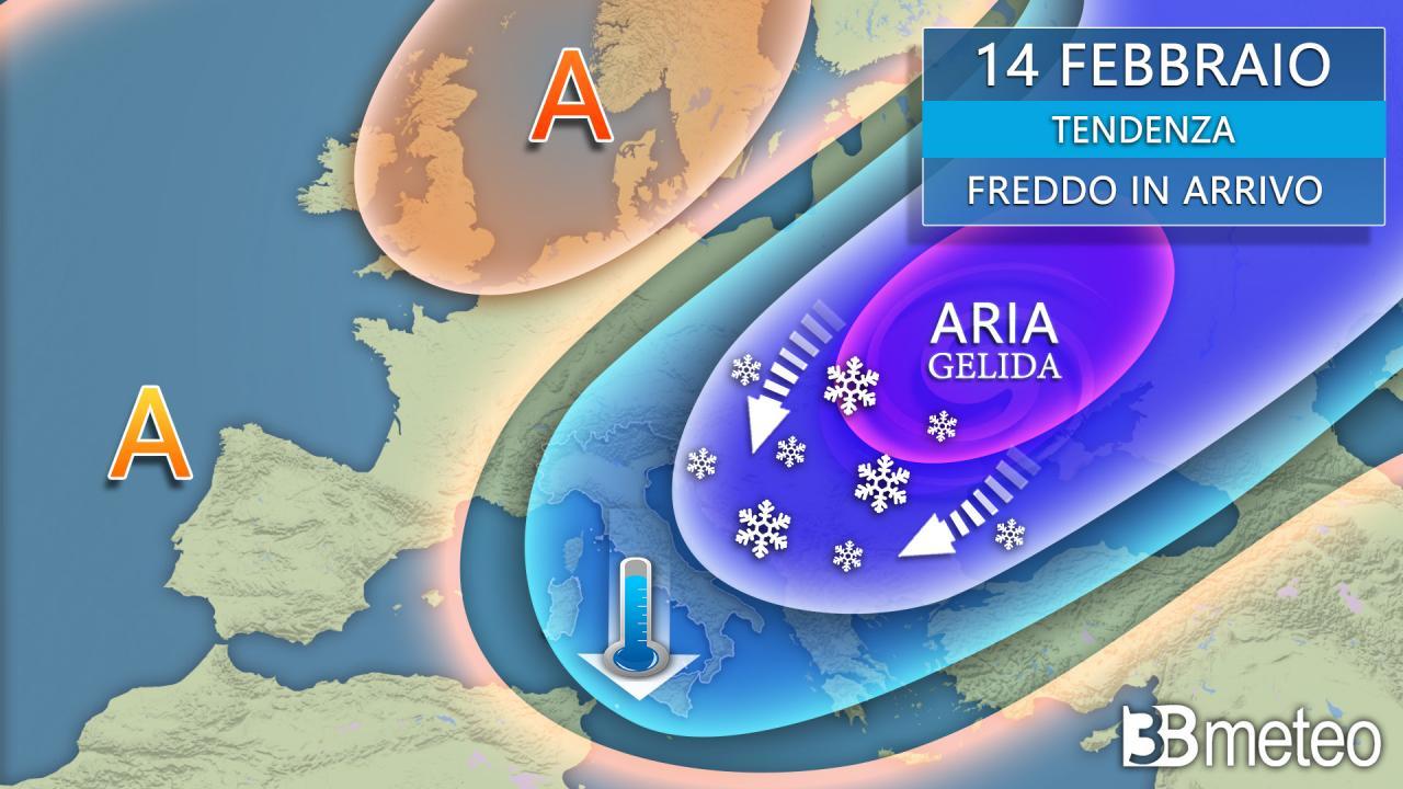Tendenza meteo: dal prossimo weekend gelo siberiano su mezza Europa, coinvolta anche l'Italia