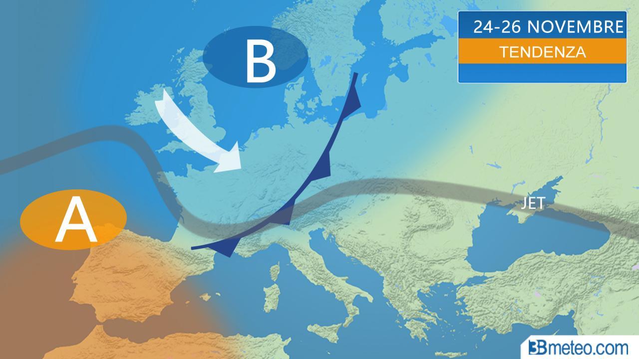 Meteo Italia. Vediamo come si concluderà Novembre, ultimo mese d'Autunno