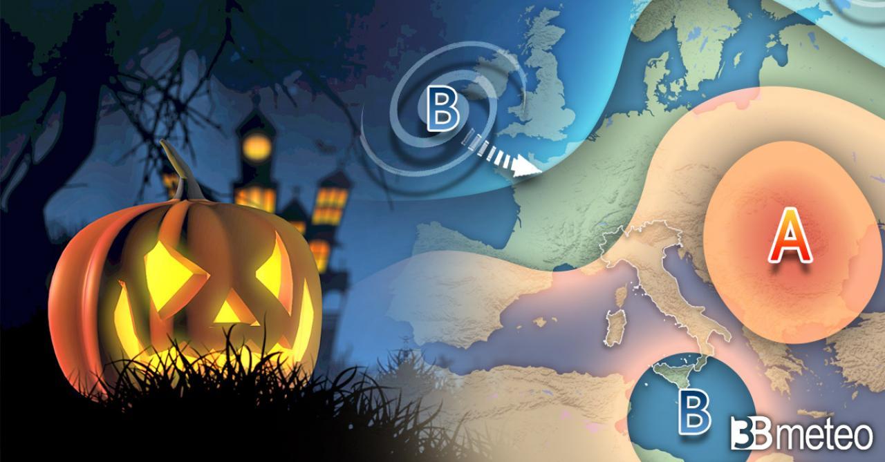 Tendenza meteo HALLOWEEN e OGNISSANTI. Tra anticiclone, insidie mediterranee e atlantiche. Ecco cosa potrebbe succedere