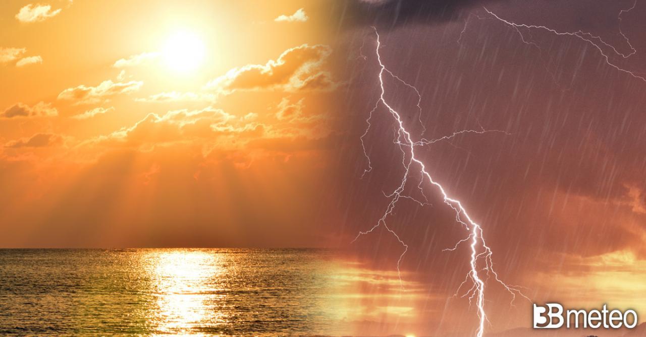 METEO della nuova settimana: ITALIA contesa fra temporali e caldo estremo