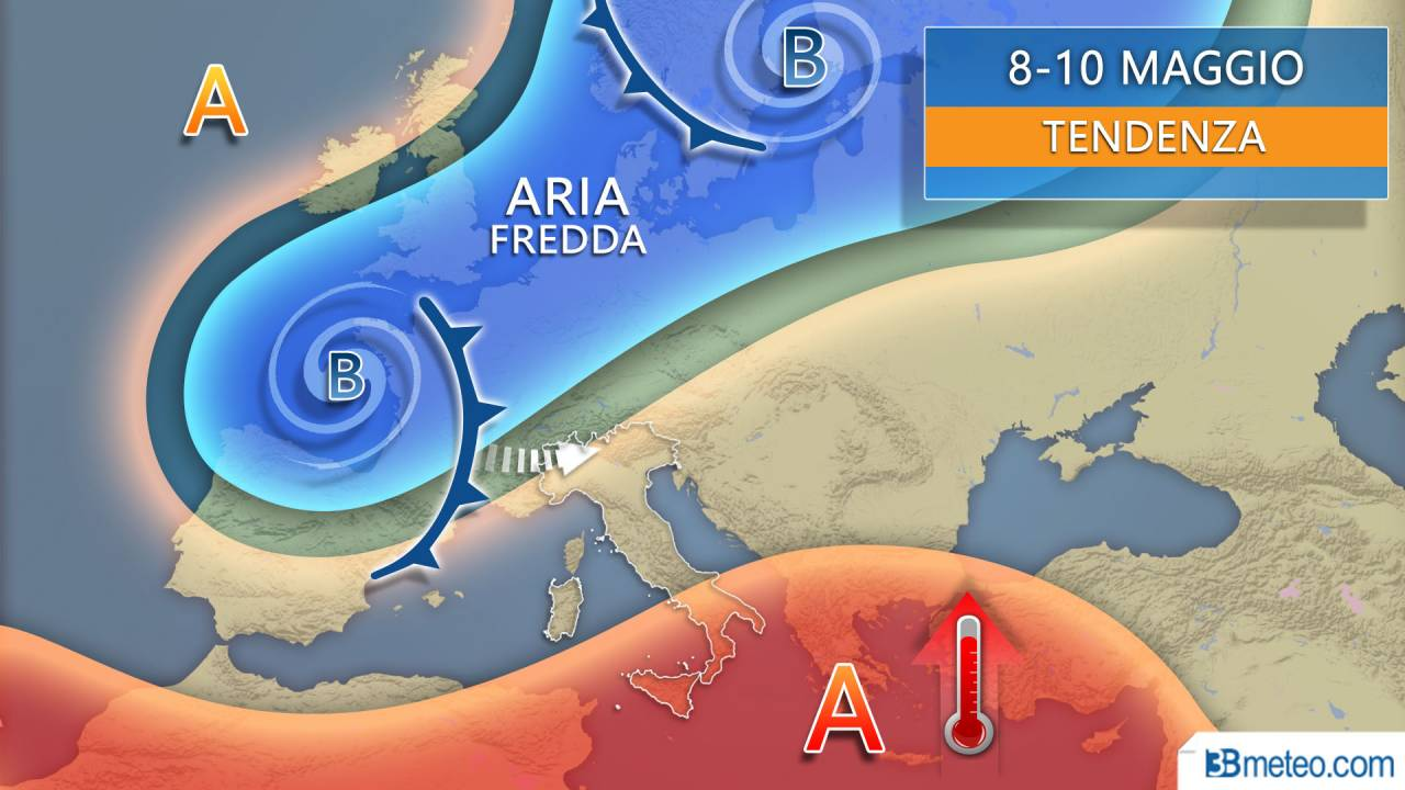 Tendenza meteo weekend 9-10 maggio