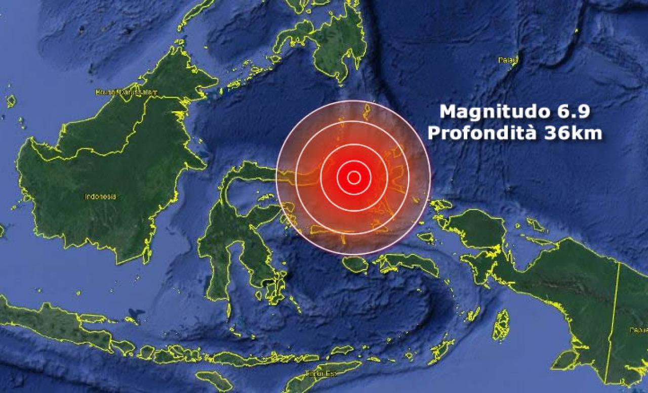 TERREMOTO INDONESIA di M 6.9 continua lo SCIAME sismico