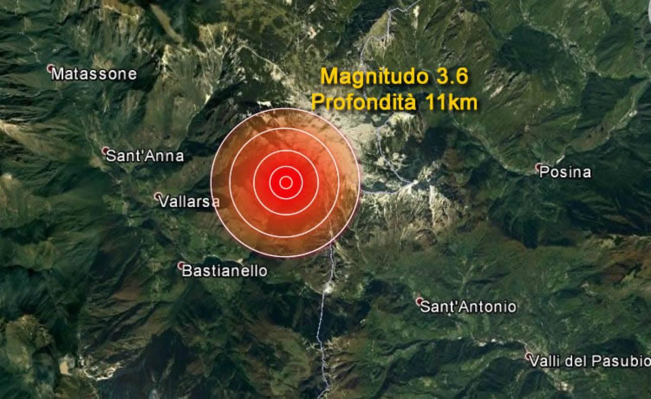 Terremoto scossa di magnitudo 3.6 tra Veneto e Trentino « 3B Meteo