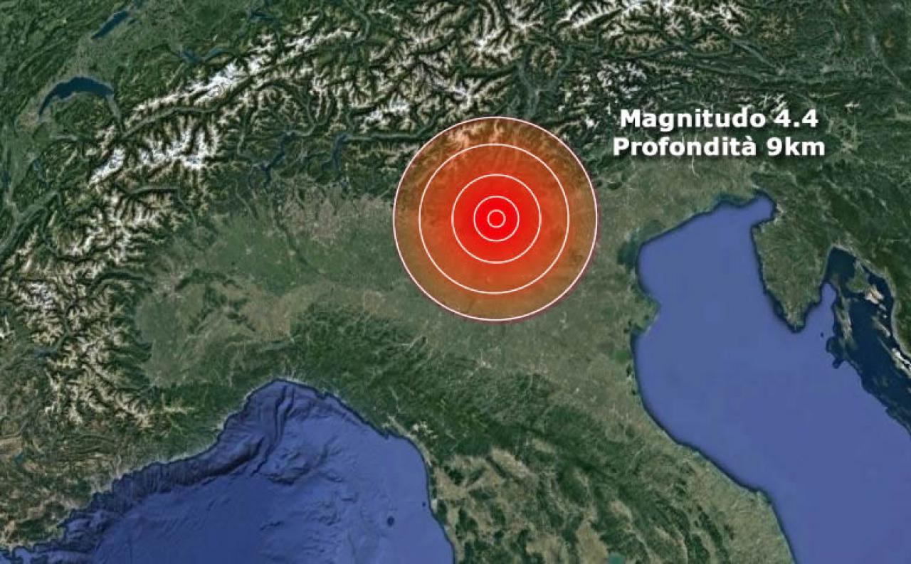 Terremoto Verona avvertito anche in Lombardia ed Emilia Romagna