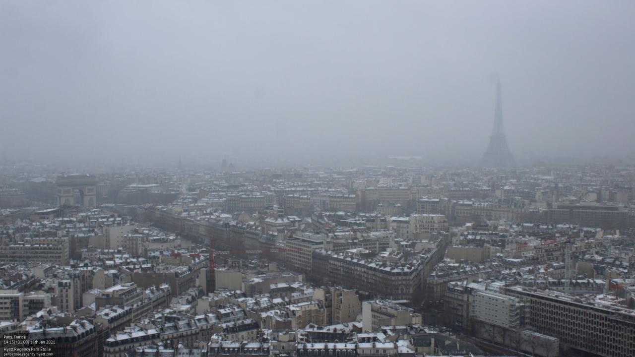Torna la neve a Parigi