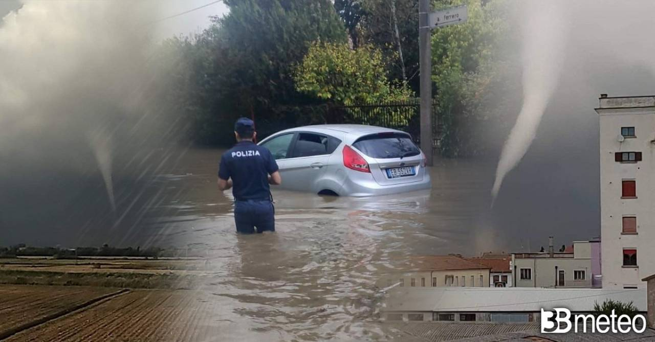 Tornado e alluvioni lampo tra Padova e Rovigo