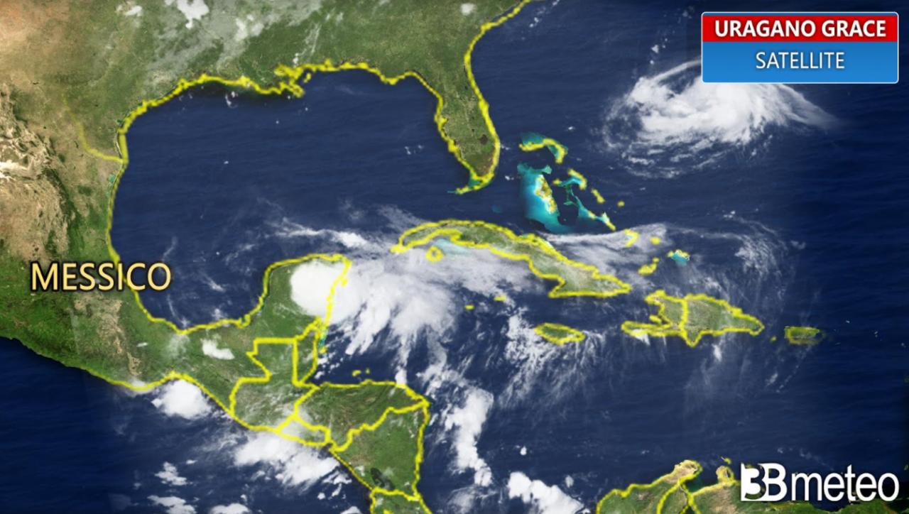 Uragano Grace impatta sulle coste orientali del Messico