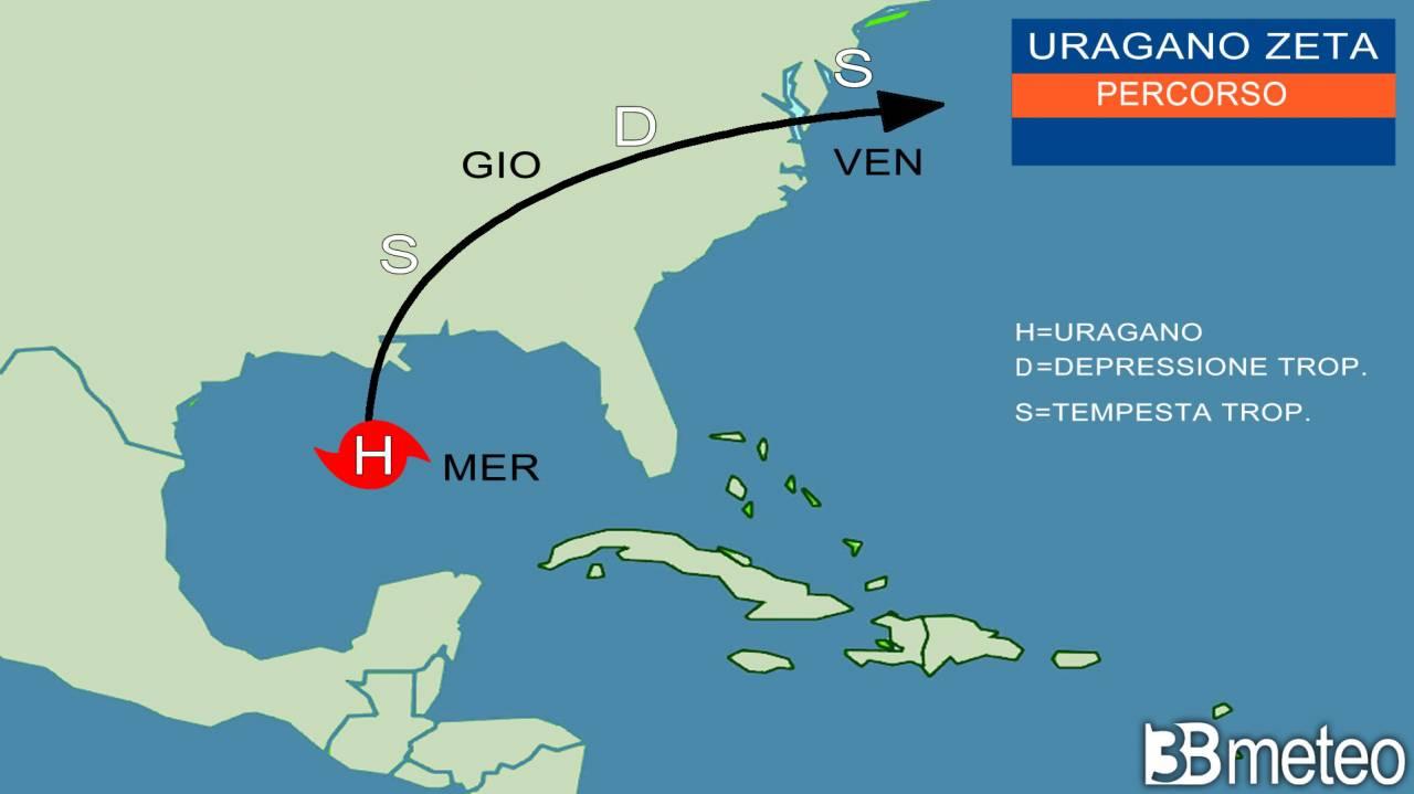 uragano Zeta pronto all'impatto sugli USA sud orientali