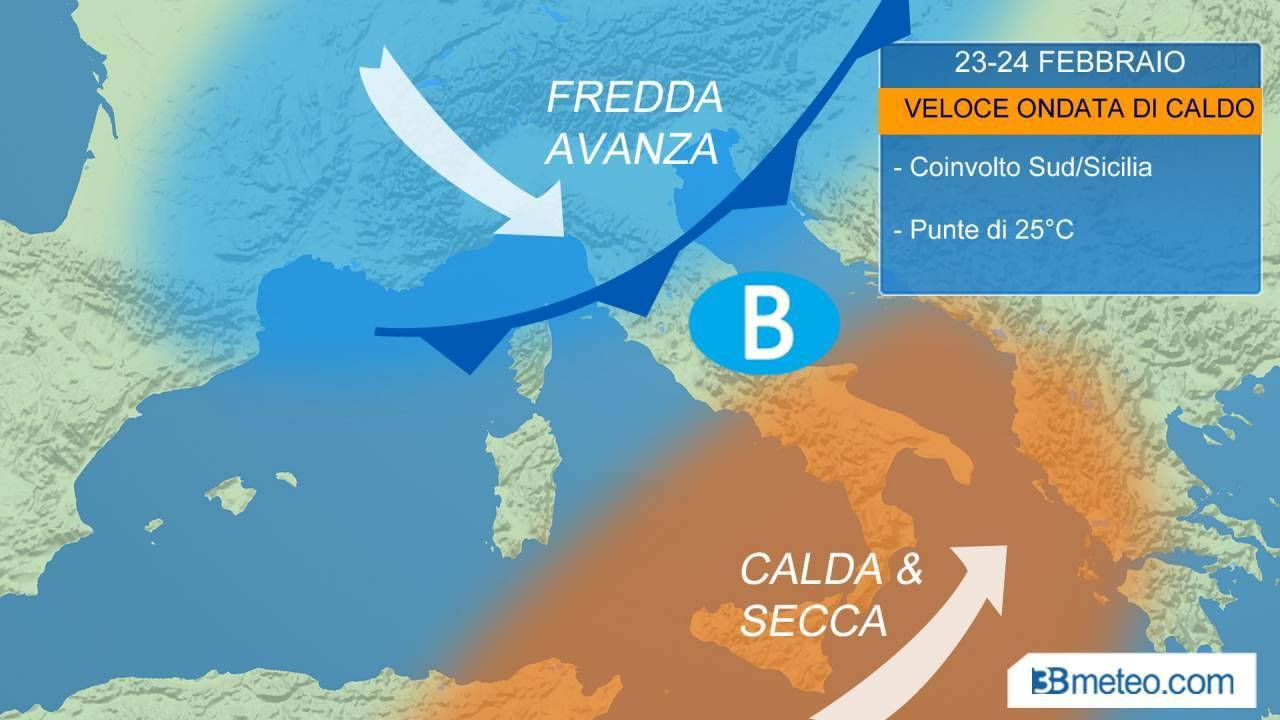 METEO. Venerdì vortice in arrivo sull'Italia, piogge e temporali al Centro e al Nord Est. Mite al Sud