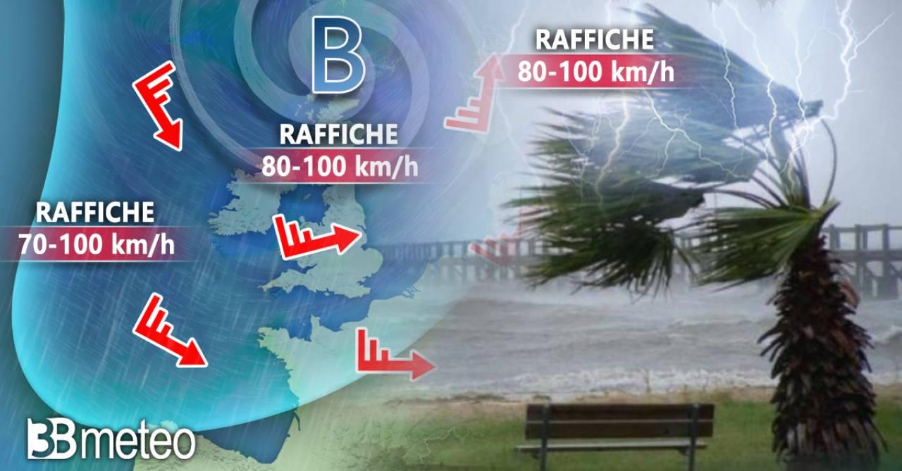 Vortice ciclonico in approfondimento sul Nord Atlantico