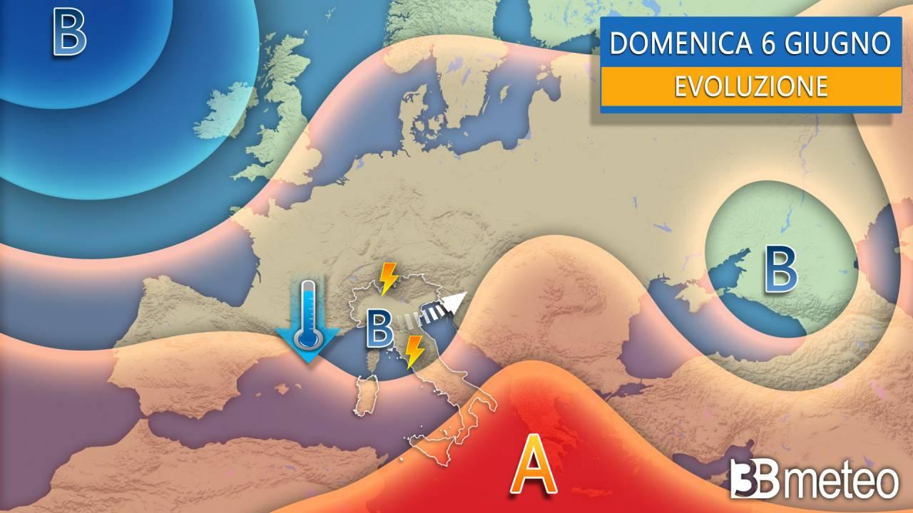Weekend, sinottica Europa-Italia per la giornata di domenica