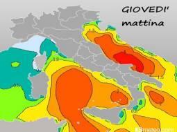 Altezza dell'onda media, prevista in metri
