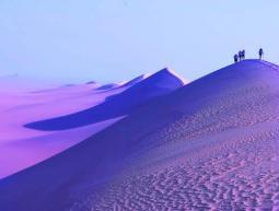 Il White Desert in versione pre-serale