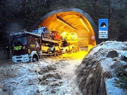 Un'altra immagine della pesante alluvione in Sardegna