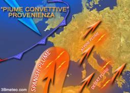 Piume convettive alla base di forti inneschi temporaleschi