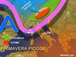Probabilità piogge attese primavera 2013