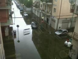 Pescara allagata in alcuni dei suoi quartieri