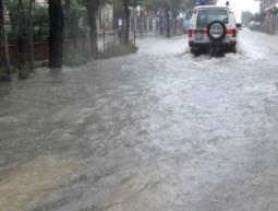 San Benedetto: molte strade allagate