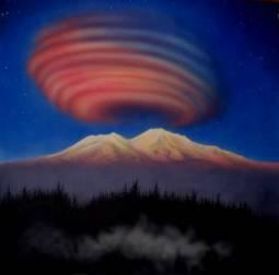 Nube lenticolare sul Monte Shasta