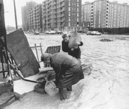 Esondazione del Seveso in zona Niguarda a Milano negli anni '70