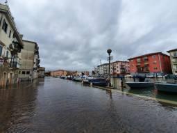 Acqua alta anche a Chioggia, foto di Riccardo Ravagnan