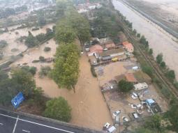 CRONACA EUROPA. FORTE MALTEMPO tra Francia e Spagna, ALLUVIONI e danni sul versante mediterraneo