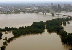 Alluvioni nel Mississippi in un immagine di archivio