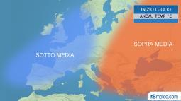 Tendenza meteo. Tra fine Giugno ed inizio Luglio cambia tutto in Europa