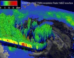 Sezione verticale dell'Uragano Sandy, del giorno 28 Ottobre