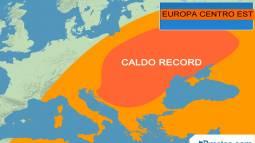 CALDO RECORD su Centro-Est Europa