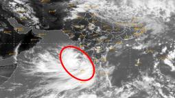 Ciclone in formazione a ovest dell India