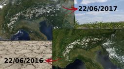 Emergenza Siccità: Italia al secco da Nord a Sud - [IMMAGINI SATELLITARI]