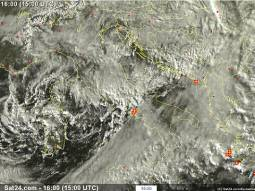 Situazione attuale ripresa dal satellite Meteosat.