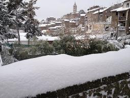 Viterbo tra le città più colpite dalle nevicate.